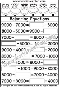 Balancing Equations – One Worksheet | Printable Worksheets | Pinterest