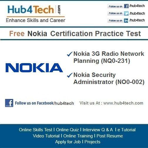 Hub4Tech Portal provides Online Skill Test on Nokia Visit-   - resume quiz