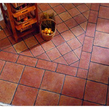 Carrelage�int�rieur Toscana en gr�s �maill�, cuir, 31.6 x 31.6 cm 17.95€/m²