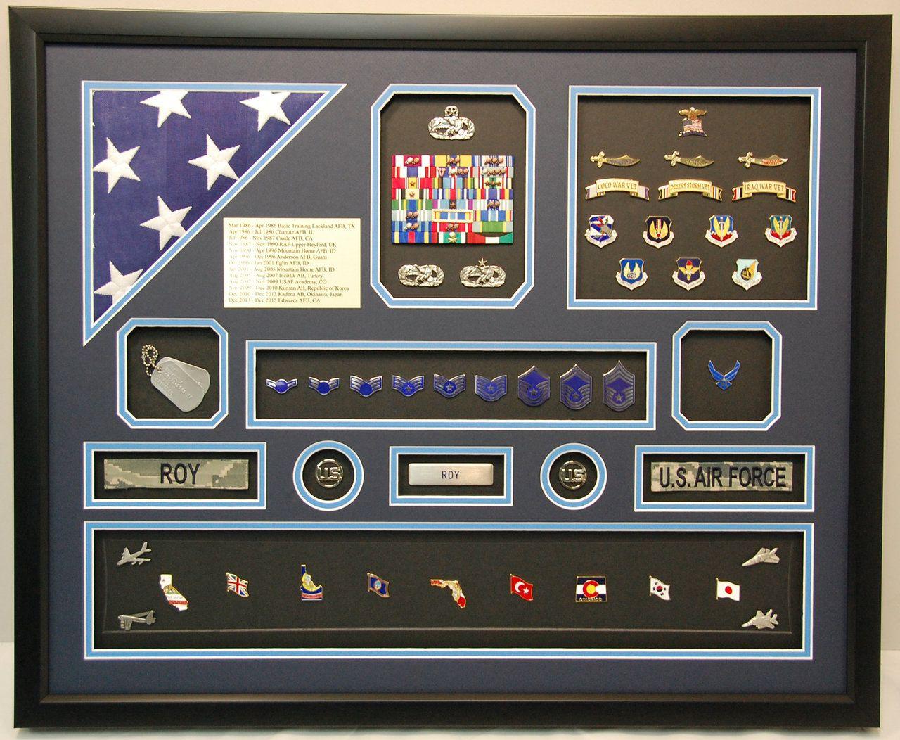 US Air Force Iraq Shadow Box Military shadow box, Shadow