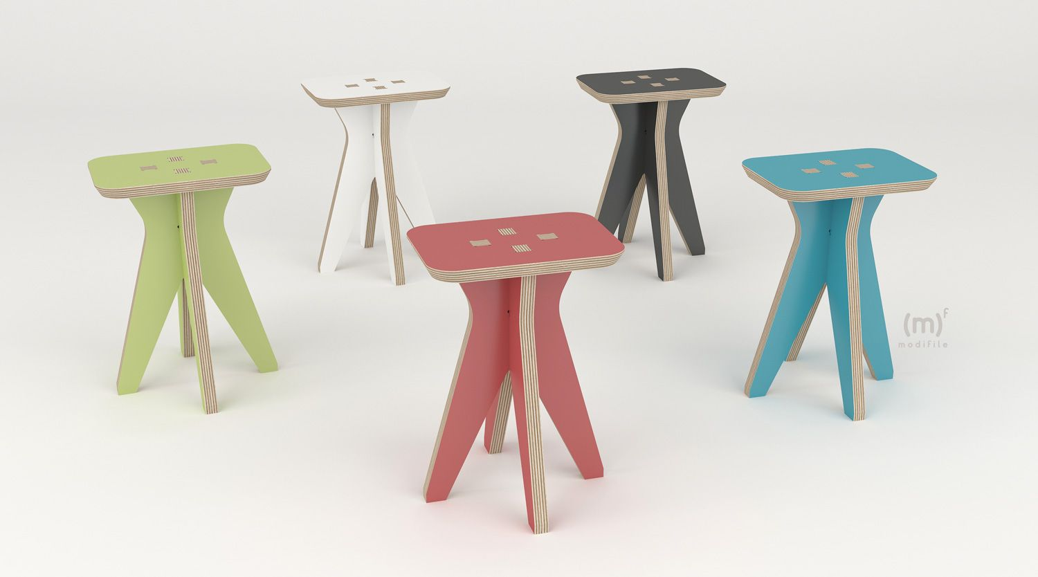 Hermes Stool Configurable stoll to be cut with cnc machines, pouf