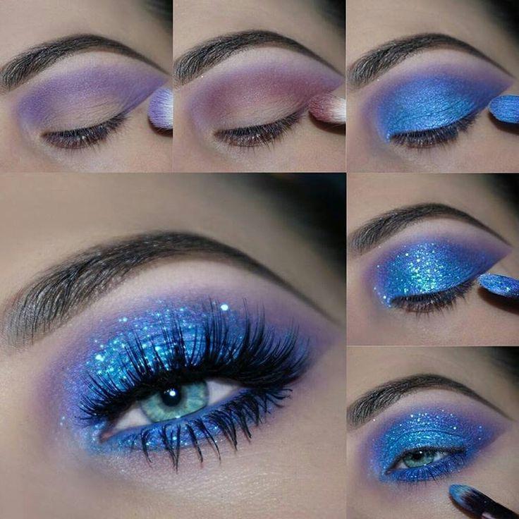 Ice see you❄️ @theamazingworldofj hat es mit diesem eisigen blauen Auge getötet. Bekommen das ... - Spitze #glittereyemakeup