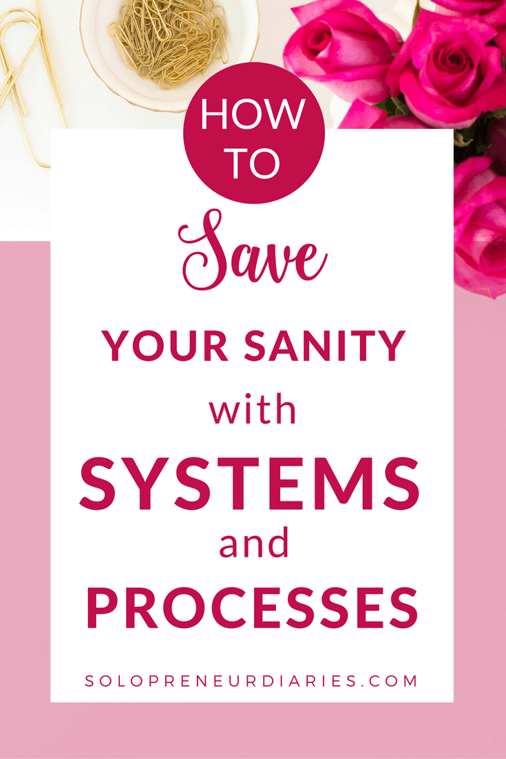 How to Save Your Sanity with Systems and Processes | Time management ...