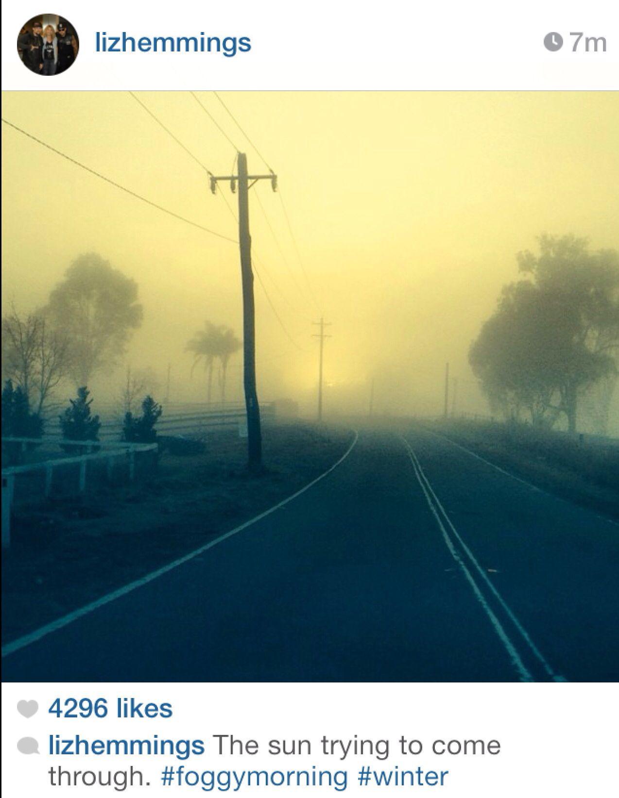 Aww. I love foggy mornings:)