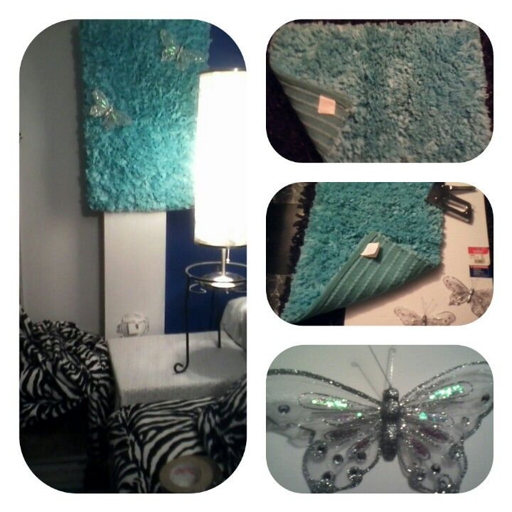 Love This Color!...Instant wall hanging with cool small shag rug.