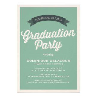 Green retro script graduation party invitation httpzazzle green retro script graduation party invitation httpzazzle filmwisefo Gallery