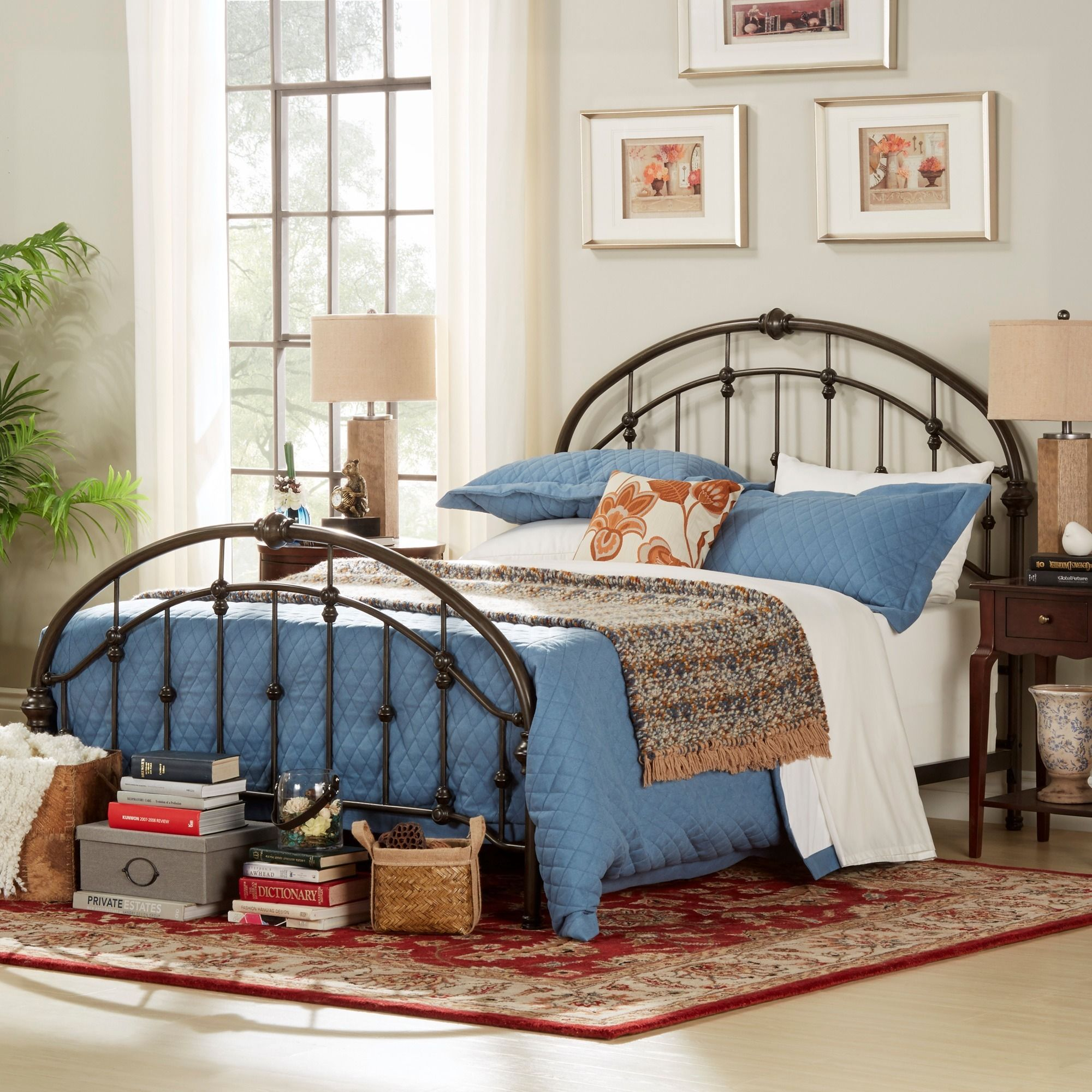 Lacey Round Curved Double Top Arches Victorian Iron King Metal Bed ...