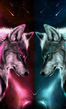 Pink Or Blue Wolf Background Wolf Wallpaper Wolf Artwork