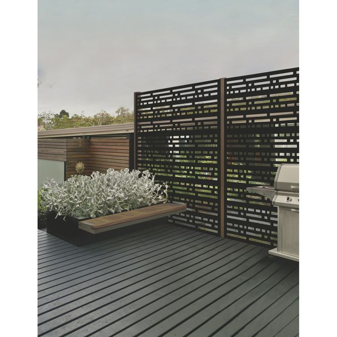 Morse Outdoor Decorative Panel 2 X 4 Black Rona For