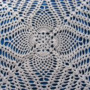 Crochet lace cushion cover