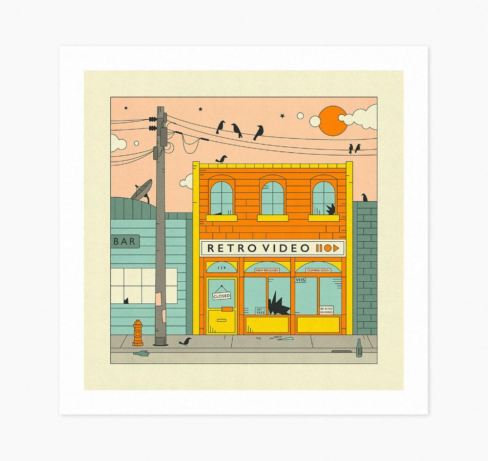 RETRO VIDEO (Fine Art Print) Retro, Pop Art by Jazzberry