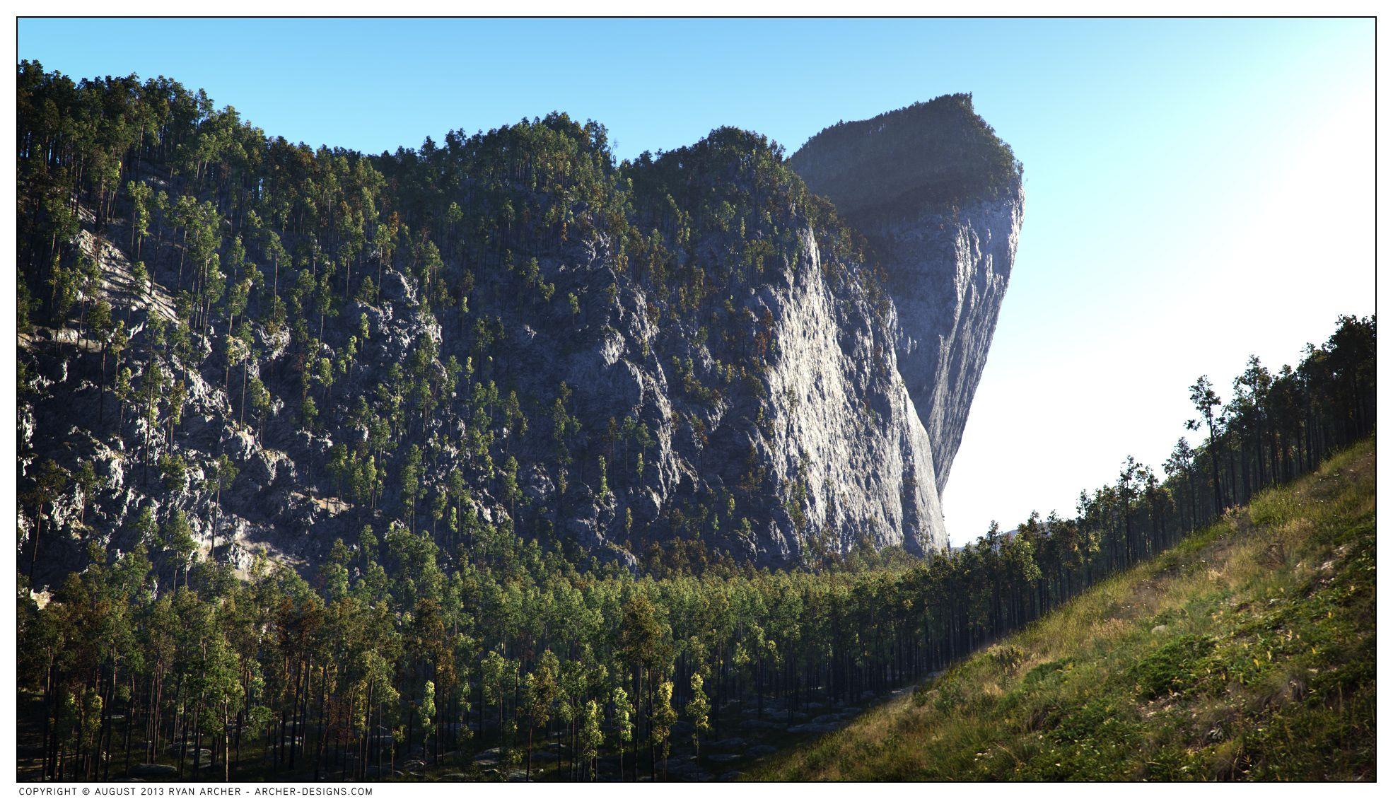 Terragen Over Hanging Cliffs By Ryan Archer | Environmental artist ...