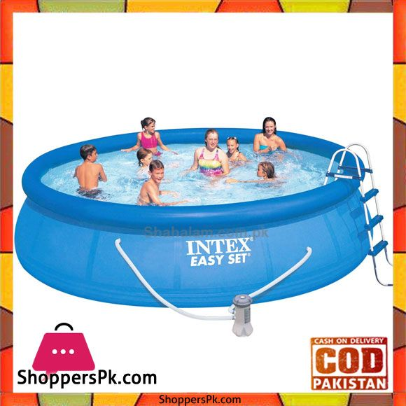Buy Intex Easy Set Pool With Safety Ladder Ground Cloth