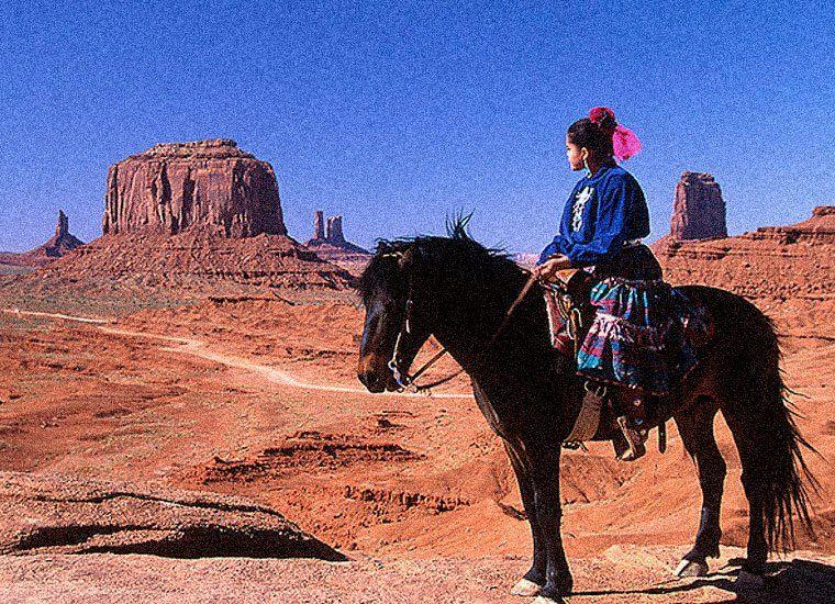 January 19 2012 native american in monument valley utah