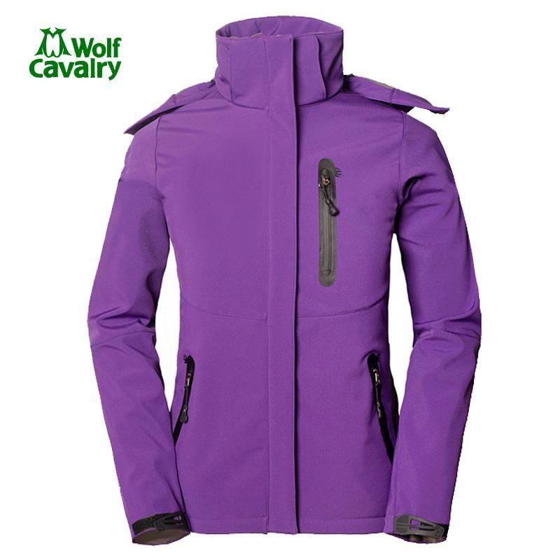 CavalryWolf outdoor womens soft shell jacket winter fleece