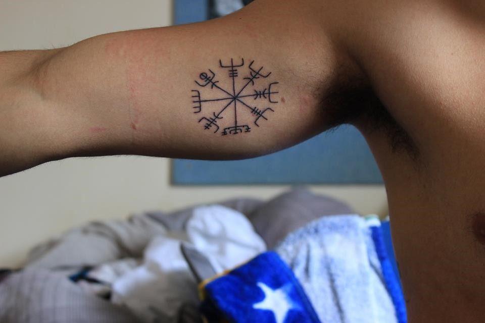 Vegvisir.The Icelandic Magical Sign to always find your way. Íslenska Húðflúrstofan / The Icelandic Tattoo corp / Reykjavík -Iceland.