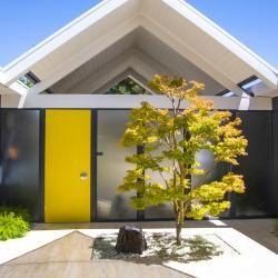 Eichler Door Kit | Eichler Escutchon | Mid-Century Modern Doors, Eichler Home,Marin Modern, Marin Modern Real Estate, Eichler For Sale, Modern Homes,  mid century modern home, front door colors, ideas for entry door