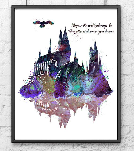 Hogwarts Castle Harry Potter Hogwarts Painting Movie Poster