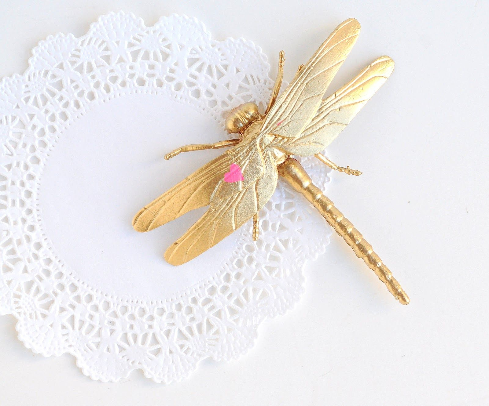 a pretty cool life // diy: gold love bug magnets for valentine's day
