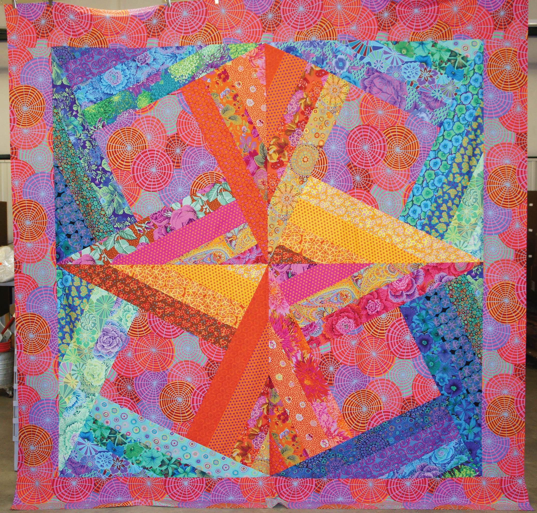 free pattern ~ Kaffe Fassett modern crazy quilt. Created by ... : art quilt patterns free - Adamdwight.com