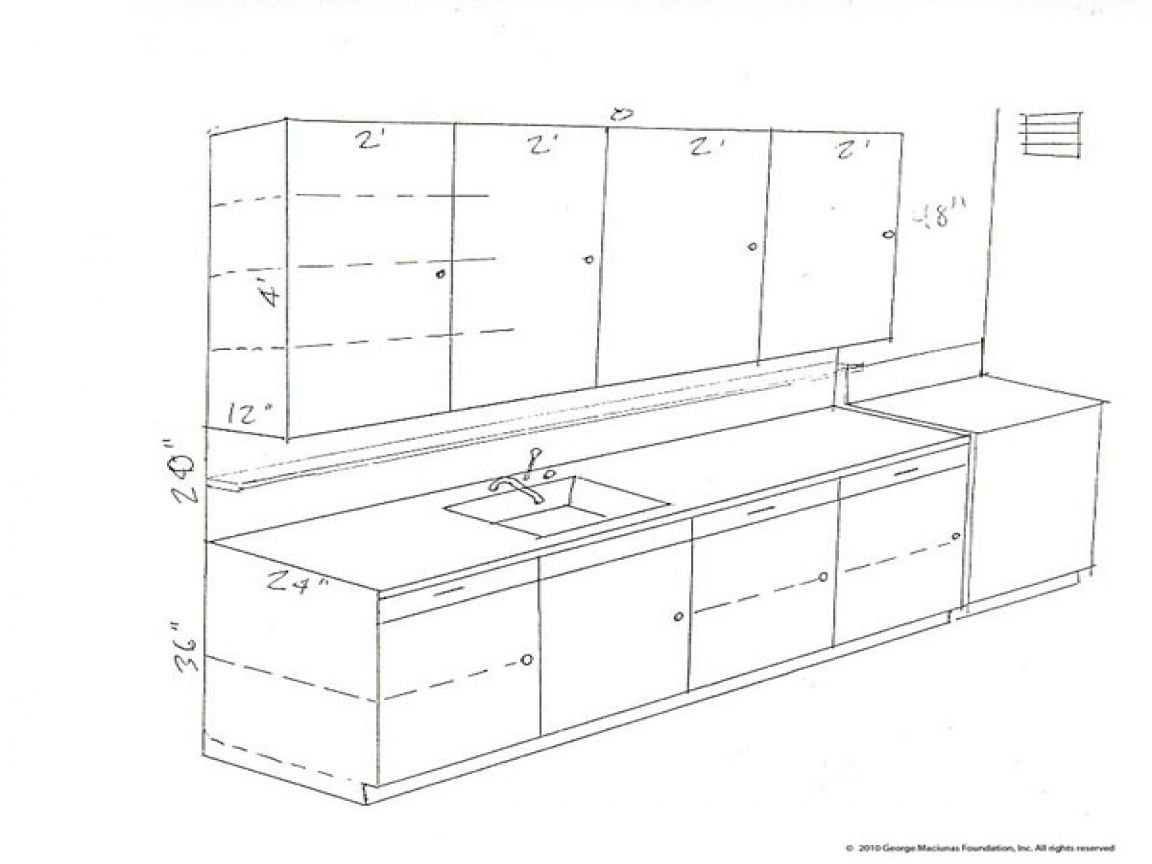 Standard drawing kitchen cabinets dimensions cabinet