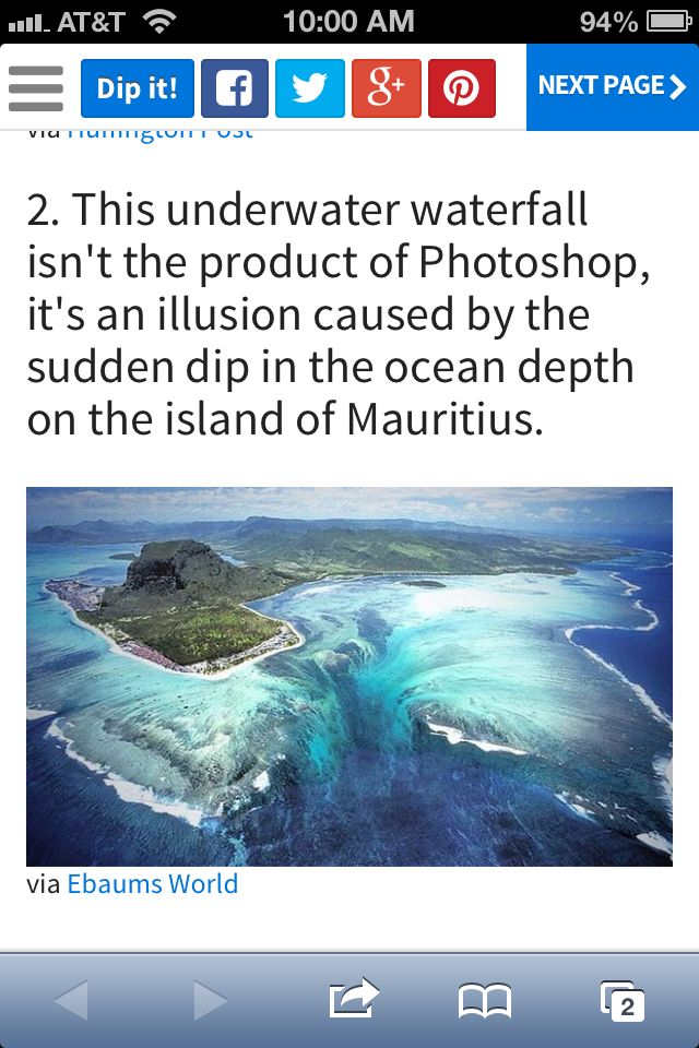 Underwater waterfall would be awesome to see in person!