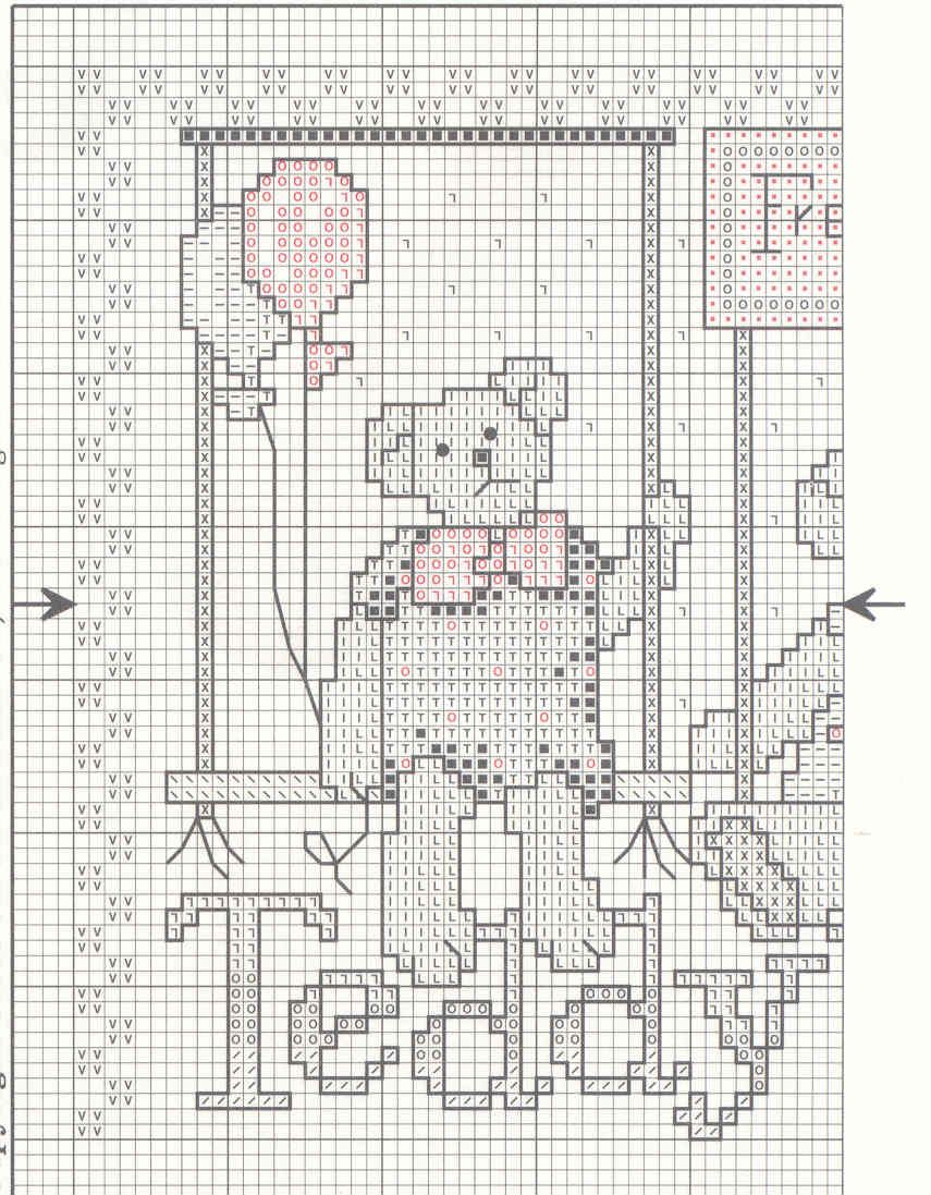 Schema punto croce Bear And Bunny 03