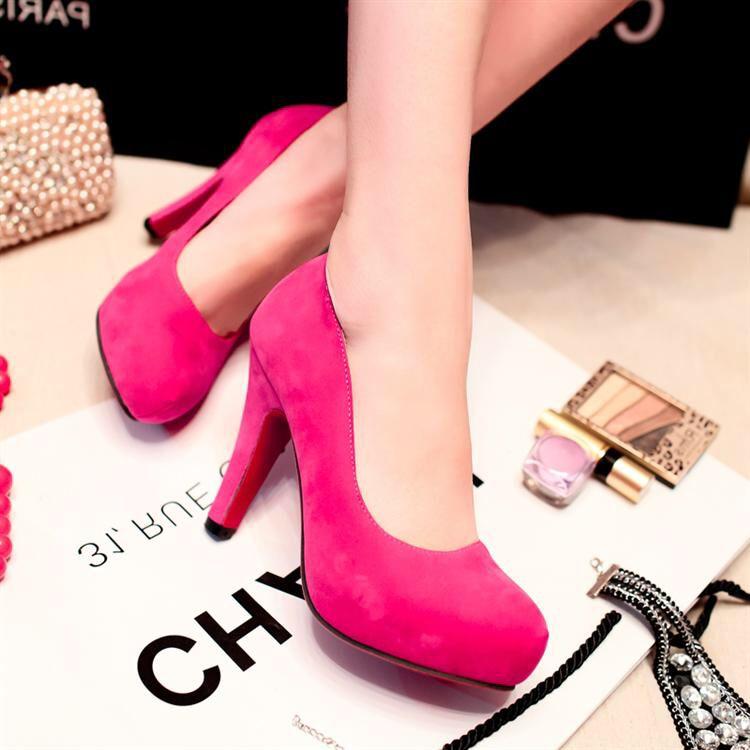 Zapatos fucsia plataforma | Zapatos boda | Pinterest | Fucsia ...