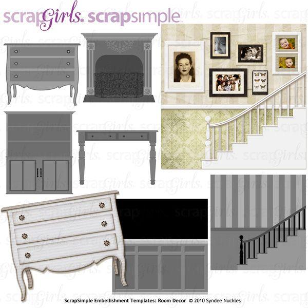 ScrapSimple Embellishment Templates: Room Decor