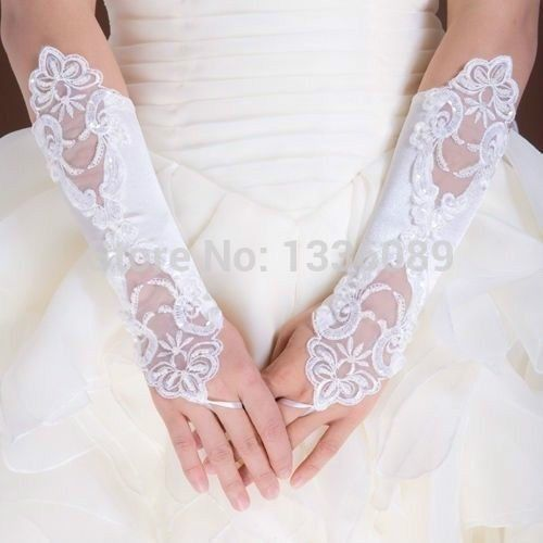 Find More Bridal Gloves Information about Free Size White/Ivory Fingerless Appliqued Elbow Length Bridal Wedding Gloves Cheap Price Free Shipping Wholesale Or Retail,High Quality gloves snow,China wedding giftware Suppliers, Cheap gloves wedding from orient201 on Aliexpress.com
