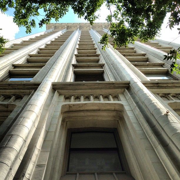 Looking up the building. #downtownatlanta #gothic #neogothic #gothicrevival. The Healey Bldg.