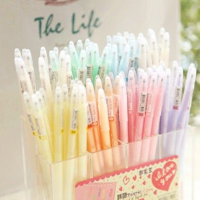 Free shipping korean candy colors Dreamy pastels pen 7 color Watercolor pen  35 pcs/lot on AliExpress.com. $18.00