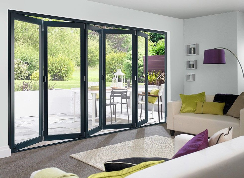 Master Grey 3 6m Approx 12ft Bifold Doors External Bifold Doors Bifold Doors Onto Patio Blinds For Bifold Doors