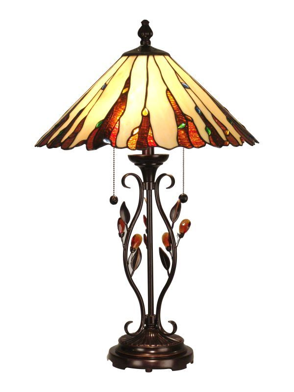 "Dale Tiffany TT90178 18"" x 27.5"" Ripley Table Lamp Antique Golden Sand Lamps Table Lamps"