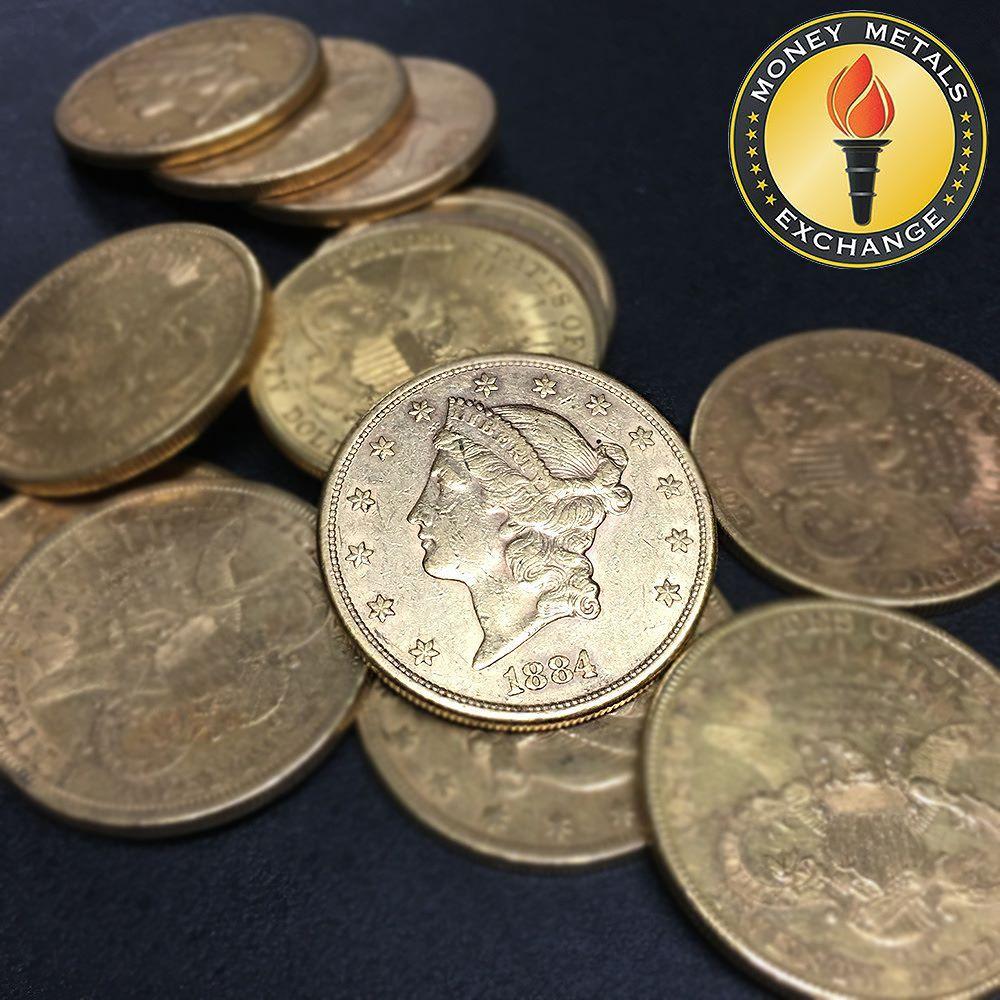 Liberty Head Double Eagle 20 Dollar Gold Coin Money Metals Exchange 20 Dollar Gold Coin Gold Investments Gold Coins