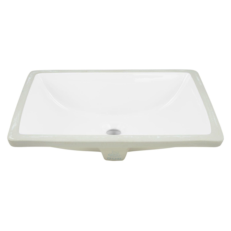 Kohler Verticyl White Undermount Rectangular Bathroom Sink With Overflow Drain 19 8125 In X 15 625 In Lowes Com Rectangular Sink Bathroom Sink Bathroom Sink