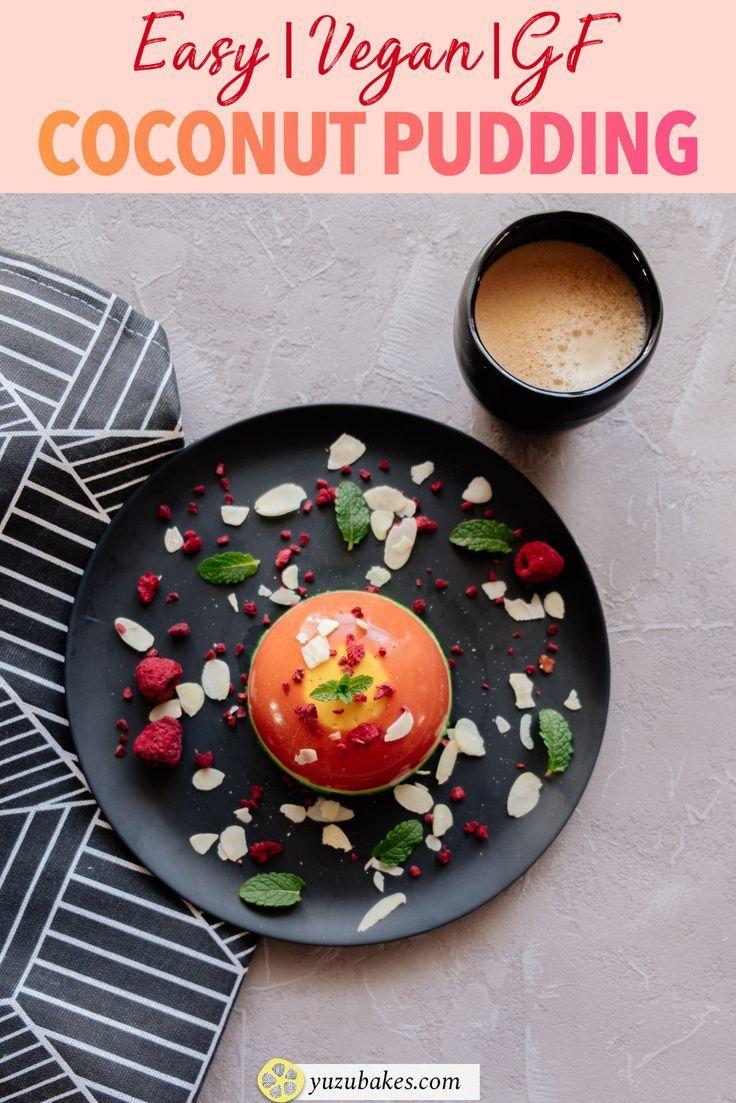 Super Easy Vegan Coconut Pudding - This is about making a delicious and colourful vegan coconut pudding. Learn how to make this easy coconut pudding by following our vegan recipe. #vegandiet #veganrecipe #eatvegan #vegandessert