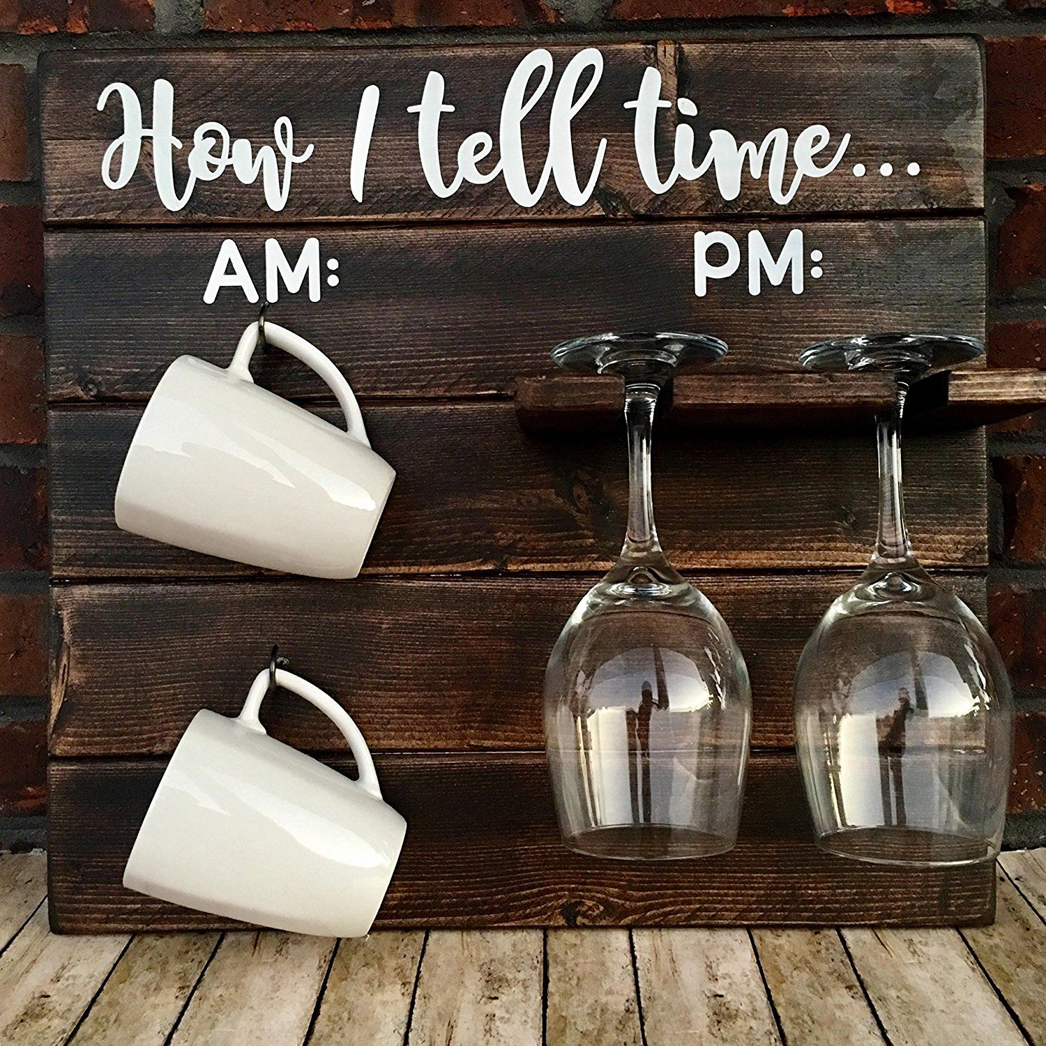 How To Tell Time, How To Tell Time Hanging Coffee/Wine