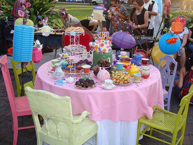 The Mad Hatter Tea Party Table Fiesta Cumpleanos Fiesta Cumpleanos