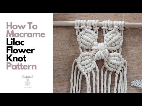 Easy and Simple Macrame Lilac Flower Pattern You Can Use For Your Projects