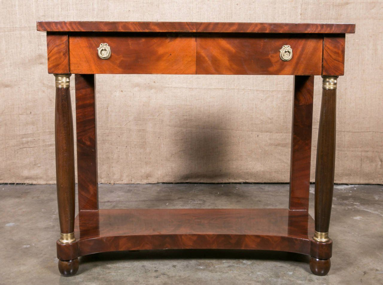 French empire mahogany console table french empire console french empire mahogany console table geotapseo Gallery