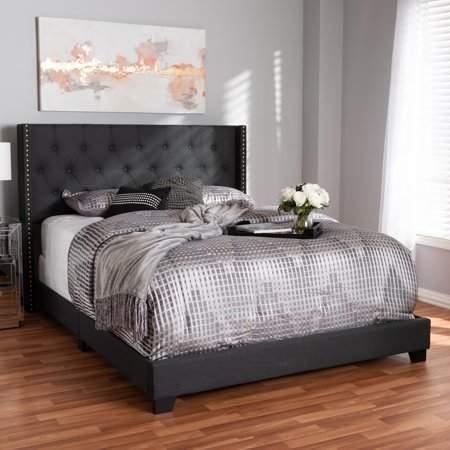 Home Grey Upholstered Bed Upholstered Beds Grey Upholstered