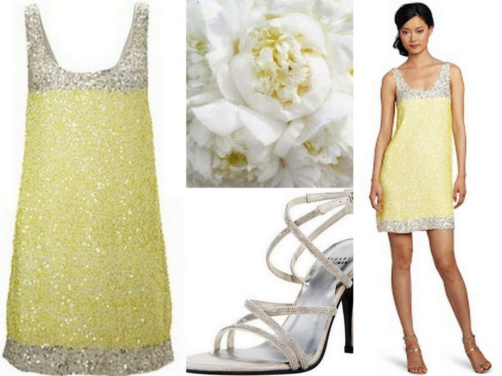 Yellow bridesmaid dress sparkly bling silver stuart weitzman yellow bridesmaid dress sparkly bling silver stuart weitzman white bouquet ombrellifo Image collections