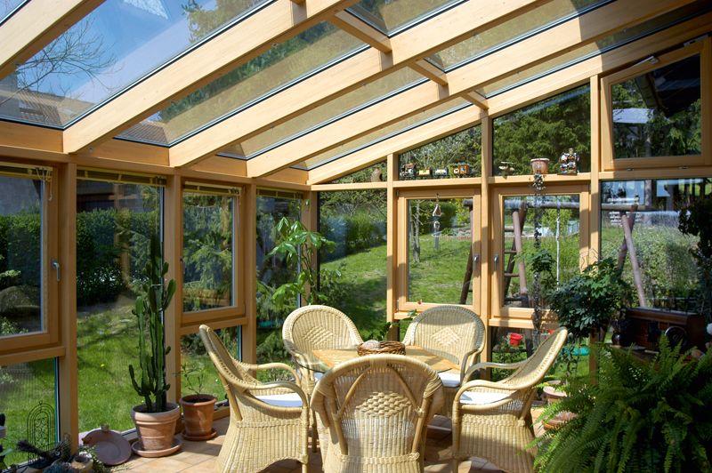 Wintergarten In Holz Aluminium Paulus Fenster Turen Backyard