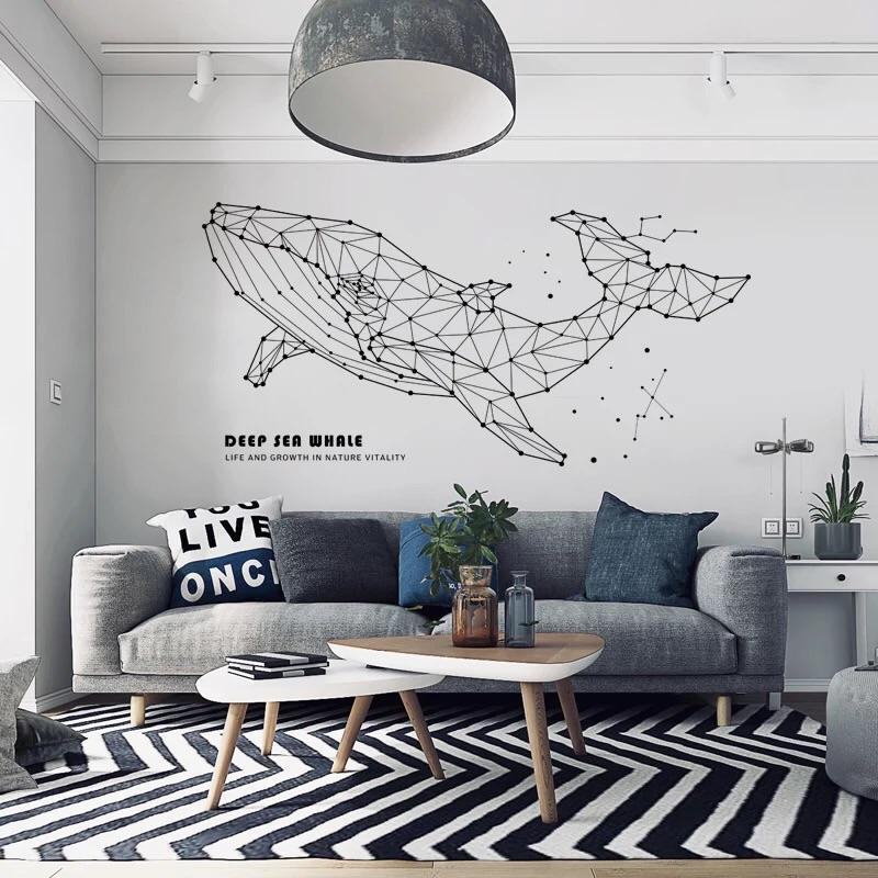 Sea Whale Wall Decals In 2019 Office Furniture Design