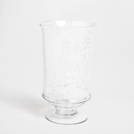 Stemmed vase with botanical transfer - Vases - Decoration   Zara Home Turkey
