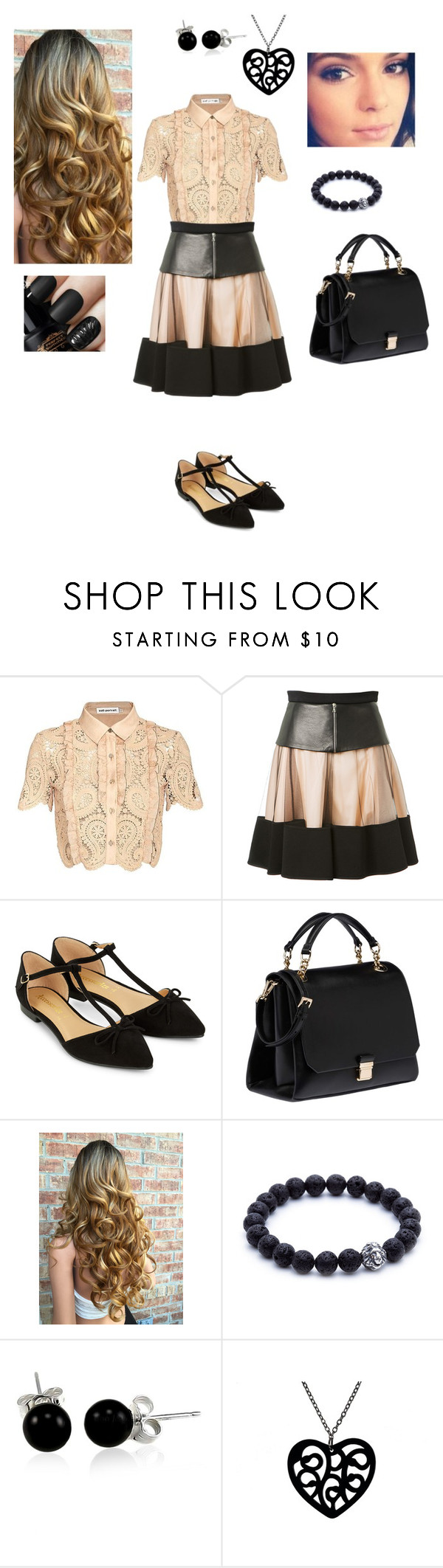 """""""Old fashioned"""" by princesshlb ❤ liked on Polyvore featuring self-portrait, David Koma, Accessorize, Miu Miu and Bling Jewelry"""