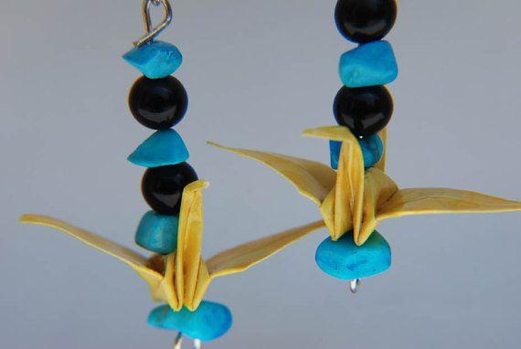 Beaded Origami Crane Earrings by punkymonks on Etsy, $10 ... - photo#43