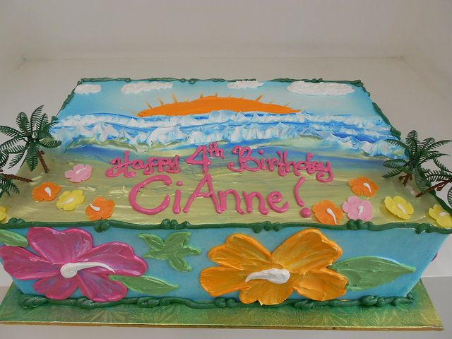 Hawaiian Birthday Cake 1735 Hawaiian Birthday Hawaiian And