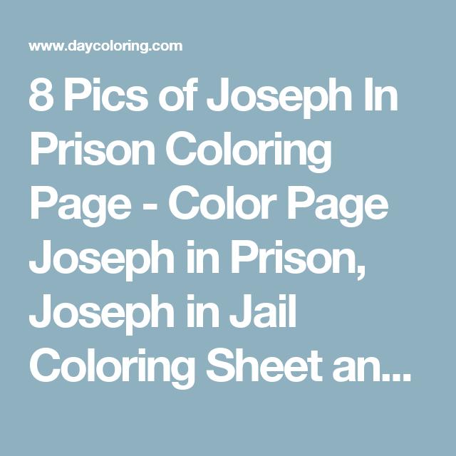 8 Pics Of Joseph In Prison Coloring Page
